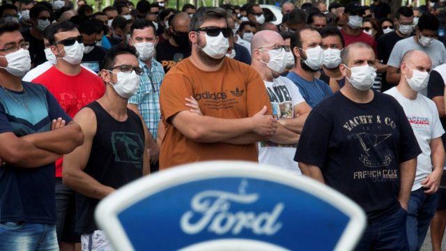 Trabalhadores da Ford em Taubaté