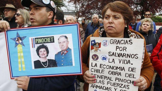 Seguidores de Augusto Pinochet