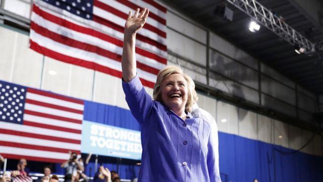 Hillary Clinton yongerejwe ingoga ku munota wanyuma