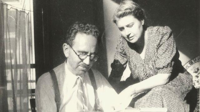 María Moliner y su esposo Fernando Ramón.