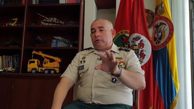 Comandante do Exército Colombiano na fronteira com o Brasil