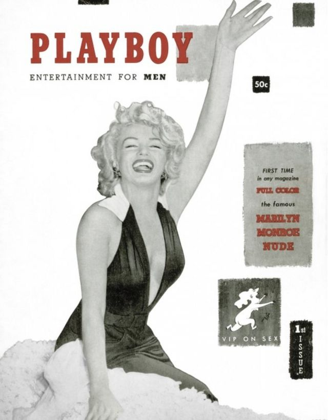 """Marilyn Monroe on the December 1953 debut issue of the gentleman""""s magazine"""