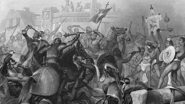 Batalla entre españoles y mexicanos