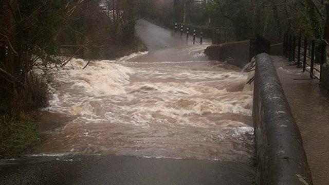 Flooding in Llandygai