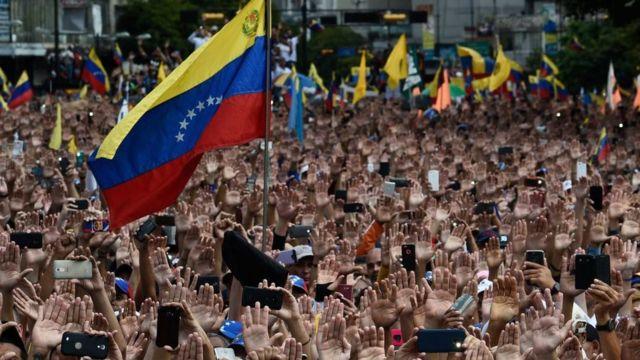 Este miércoles la oposición venezolana realizó movilizaciones masivas en decenas de ciudades del país.