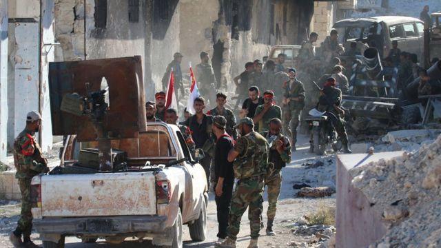 نیروهای دولتی سوریه در شمال حلب
