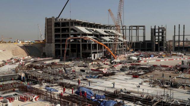 استادیوم در حال ساخت در قطر