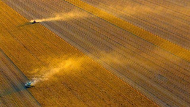 صور جوية تبرز تنسيق المزارع الاسترالية