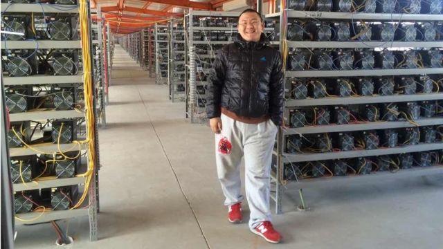 Kripto para madenciliği yapan Chandler Guo.