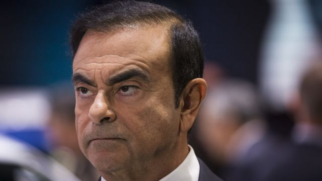 Renault CEO Carlos Ghosn speaks to the media during the Paris Motor Show at Parc des Expositions Porte de Versailles on October 2, 2018 in Paris, France.