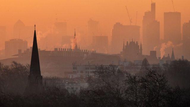 Contaminación de aire en Londres