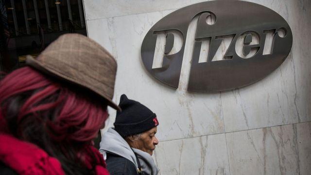 Edificio de Pfizer, una de las empresas que está desarrollando una vacuna contra el virus.