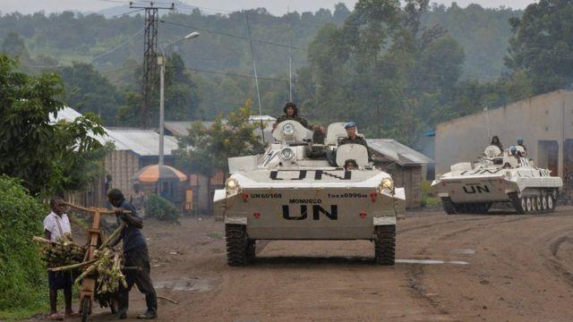 Kongo'daki BM barış gücü askerleri