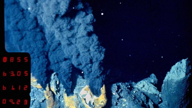 Una fuente hidrotermal