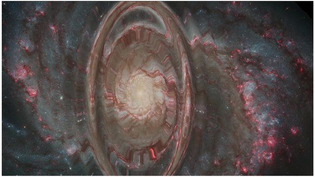 Artist's impression of gravitational waves