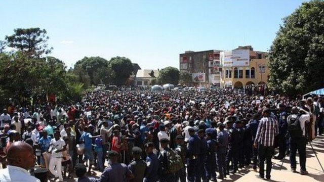 Manifestants en République Démocratique du Congo