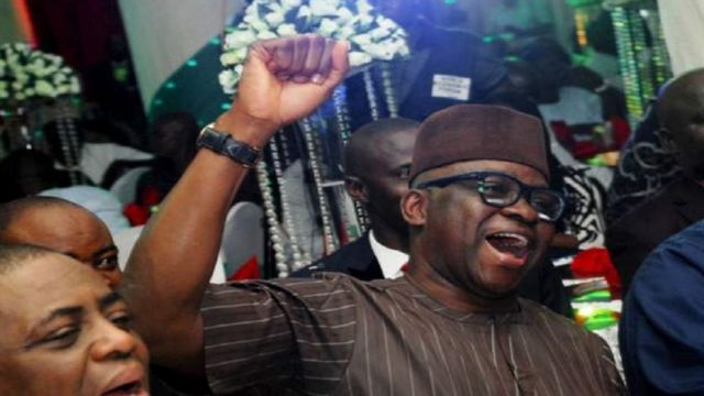 Ayodele Fayose dey among those wey no dey keep quiet about President Muhammadu Buhari government.