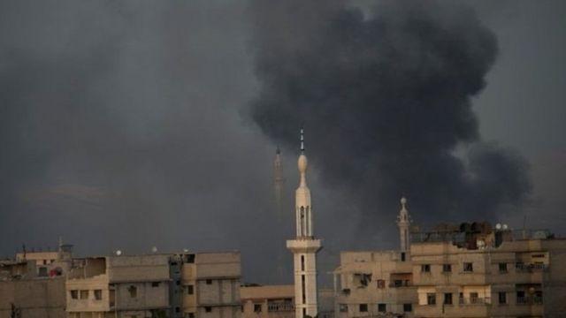 Luguden wuta a gabashin garin Ghouta