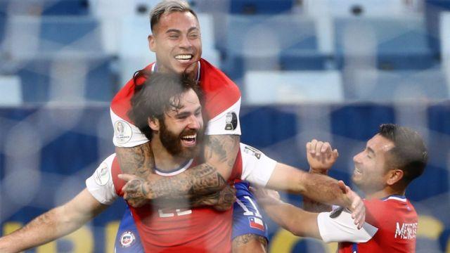 Chile's goal celebration
