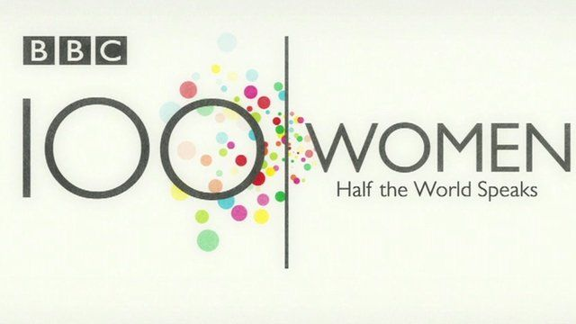 Graphic reading '100 Women: Half the World Speaks'