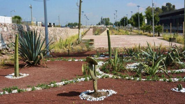 Un parque en el Albarradón de Ecatepec