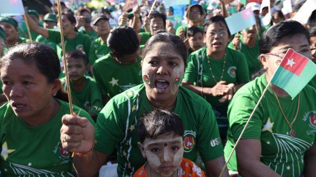 အောက်တိုဘာ ၂၉ ရက်နေ့က ကြံ့ခိုင်ဖွံ့ဖြိုးရေးပါတီက ရန်ကုန်မြို့မှာ မဲဆွယ်စည်းရုံးခဲ့