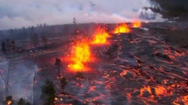 فوران آتشفشان در کیلاویا هاوایی