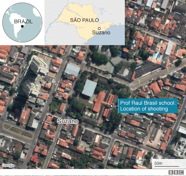 Map of where the shooting took place