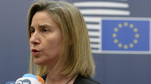 """Federica Mogherini, la chef de la diplomatie de l'Union européenne, a qualifié d'""""ambitieux"""" le plan de relance de l'économie centrafricaine."""