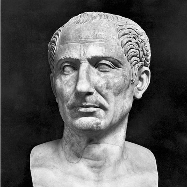 Un busto de Julio César