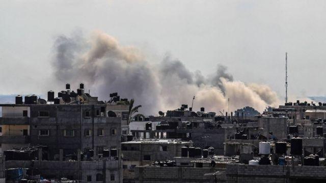 La ville palestinienne de Rafah, à sa frontière avec l'Egypte, dans le Sinaï.