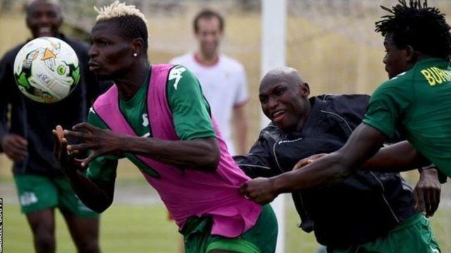 Les Etalons du Burkina Faso lors d'une séance d'entraînement