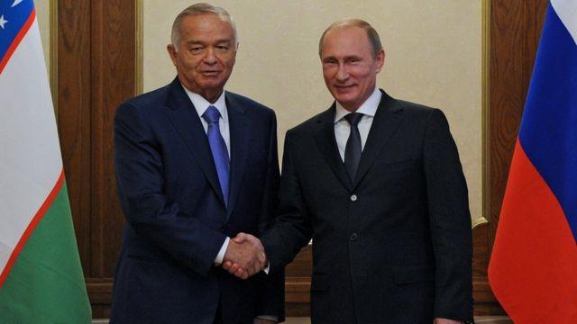 Владимир Путин и Ислам Каримов