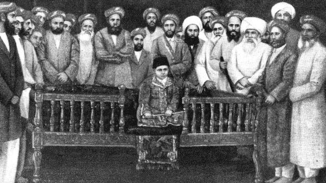 آغا خان سوم کی تخت نشینی کا منظر