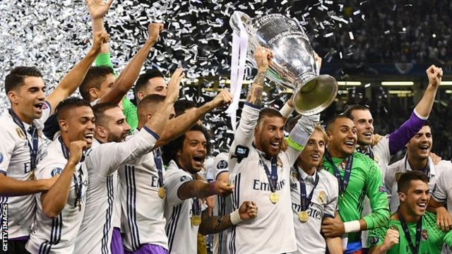 Real Madrid yatwaye igikombe cya Champions League ku nshuro ya gatatu mu myaka ine