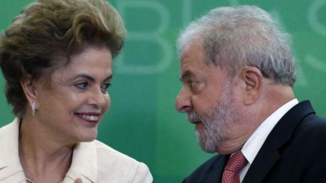 Dilma Roussef na Lula da Silva