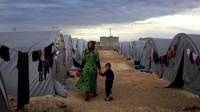 Campo de refugiados na Turquia