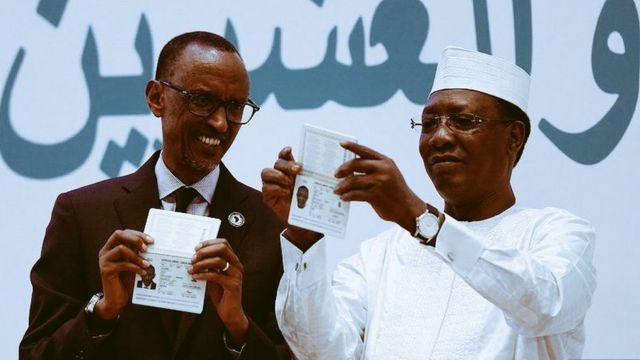 Paul Kagame na Idris Deby