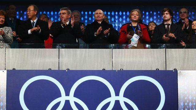 Putin na abertura dos Jogos de Inverno
