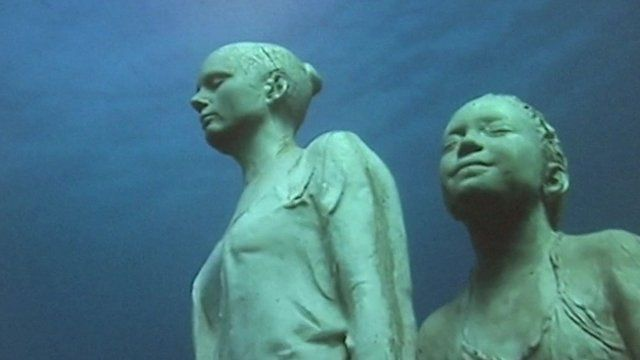 Statues under the sea