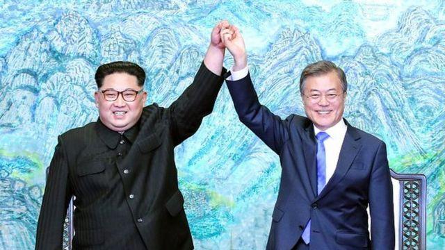 Kim Jong-un na Moon Jae-in