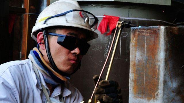 Trabajador en China