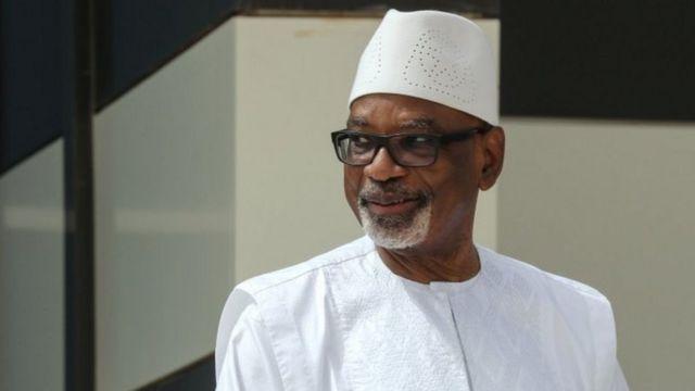 Ibrahim Boubacar Keïta (ifoto yo mu bubiko yo ku itariki ya 30 y'ukwezi kwa gatandatu muri uyu mwaka wa 2020)