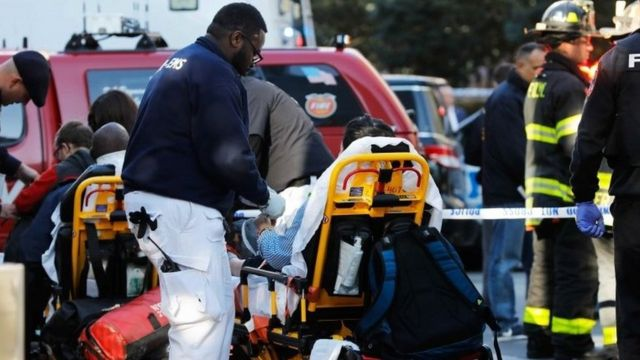 Wounded at the shooting incident in New York City on 31 October 2017