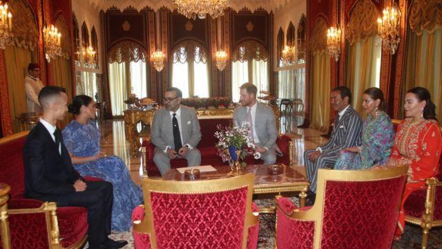 دوقة ودوق سيسكس في المغرب خلال زيارة العائلة المالكة في المغرب