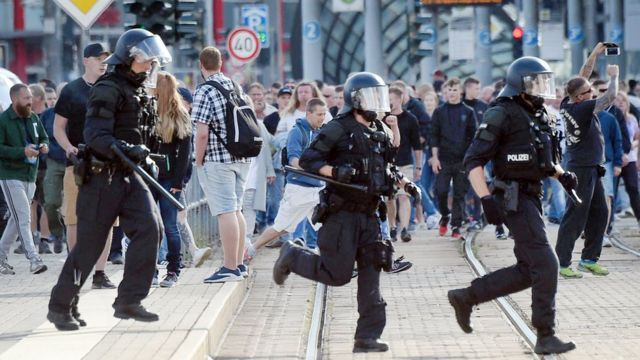 Полиция в Хемнице