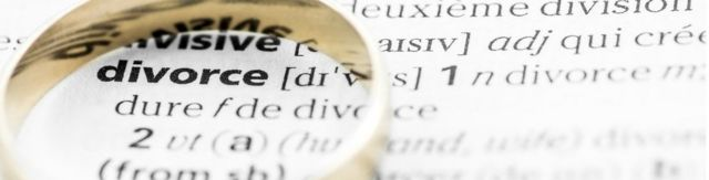 Divorce dictionary definition below a wedding ring