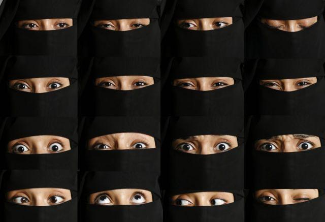 Outra composição da série 'Hijab'