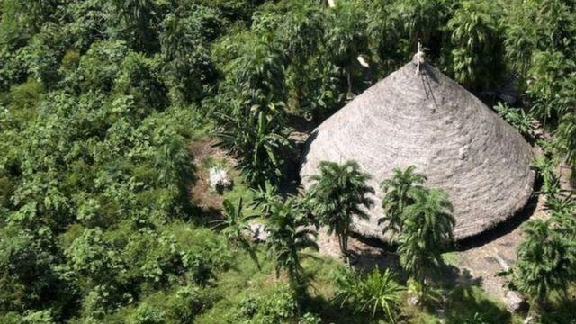Área ocupada por índios Suruwahá