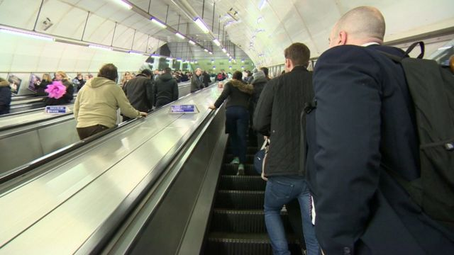 Holborn station escalators
